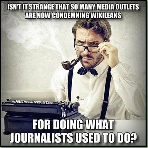 media outlets vs journalists vs wikileaks