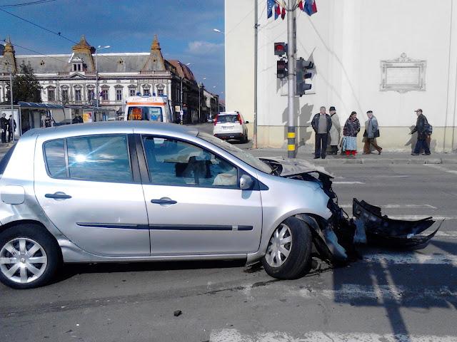 Accident în centrul Oradei #1