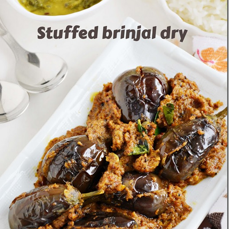 Ennai kathirikkai dry / Stuffed brinjal dry