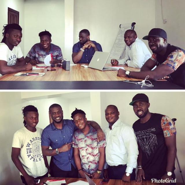Mr P signs First Artist to PClassic Records, Singah! (Photos)