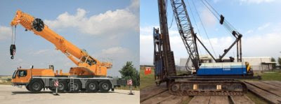 Truck Mounted Tacked Crawler Cranes