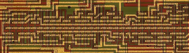 Miscellaneous logic circuits in the 76477 sound effects chip.