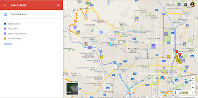 Later edit your maps by clicking on the name of your map, and click on Open in My Maps