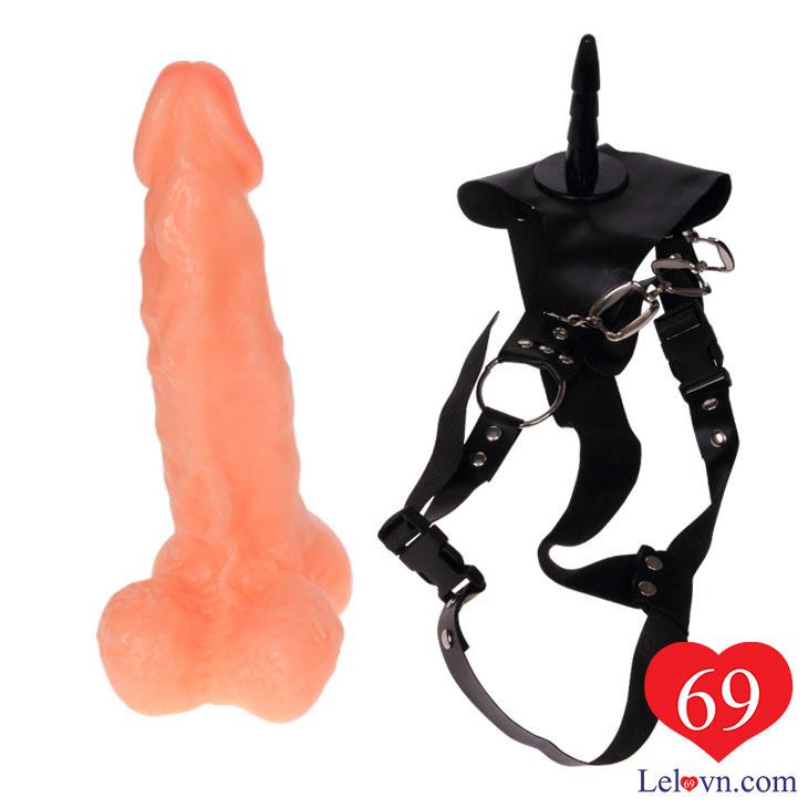 Phần dương vật giả có thể tách rời ra khỏi dây đeo để sử dụng riêng