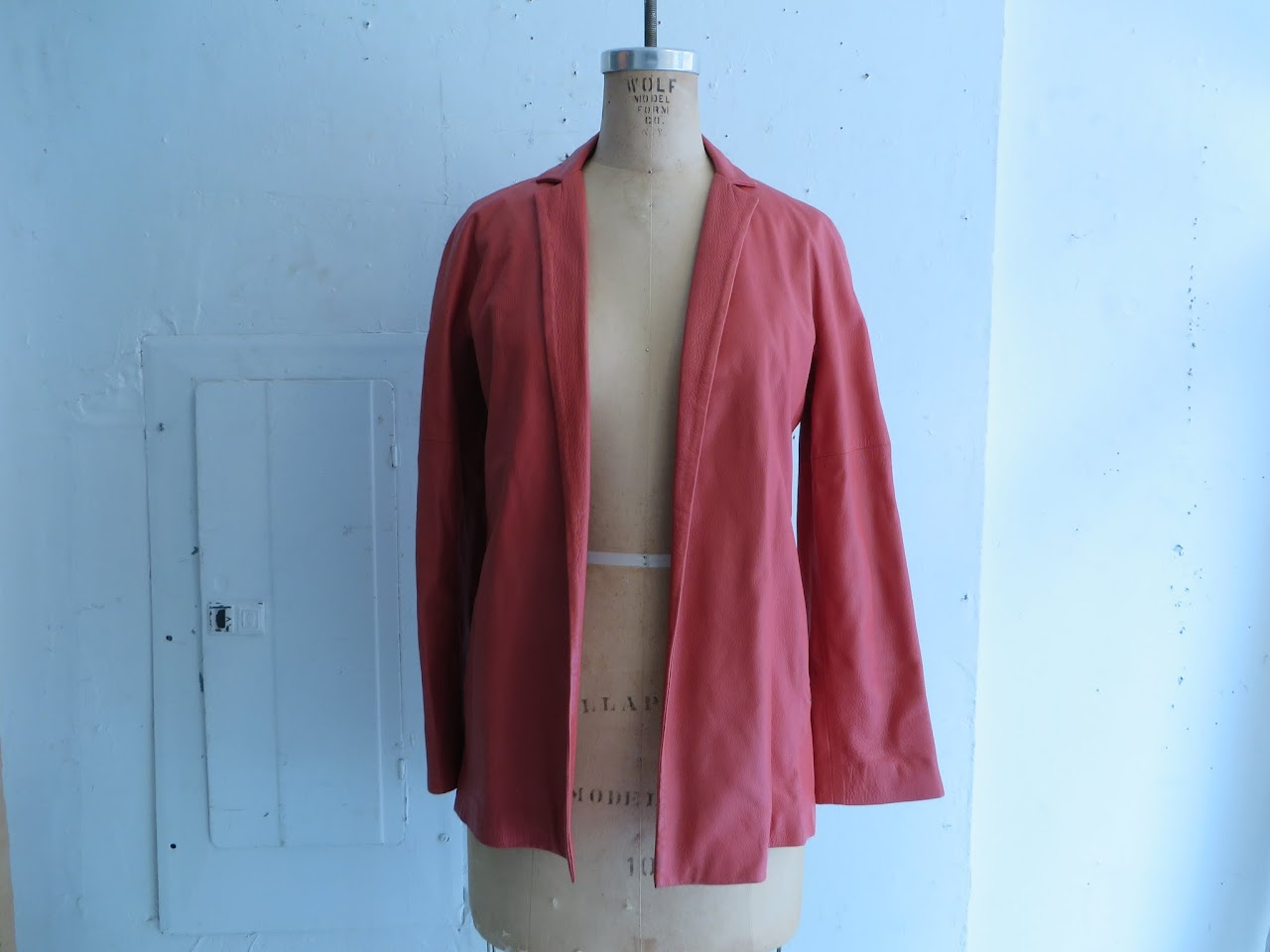 Bottega Veneta Salmon Leather Blazer