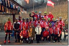 Alcuni portacolori dell'Asd Biciverde Racing Team