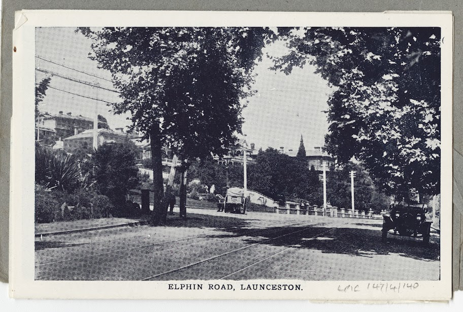 NW view up Elphin Road, corner of Erina Street, towards Scotch Oakburn college