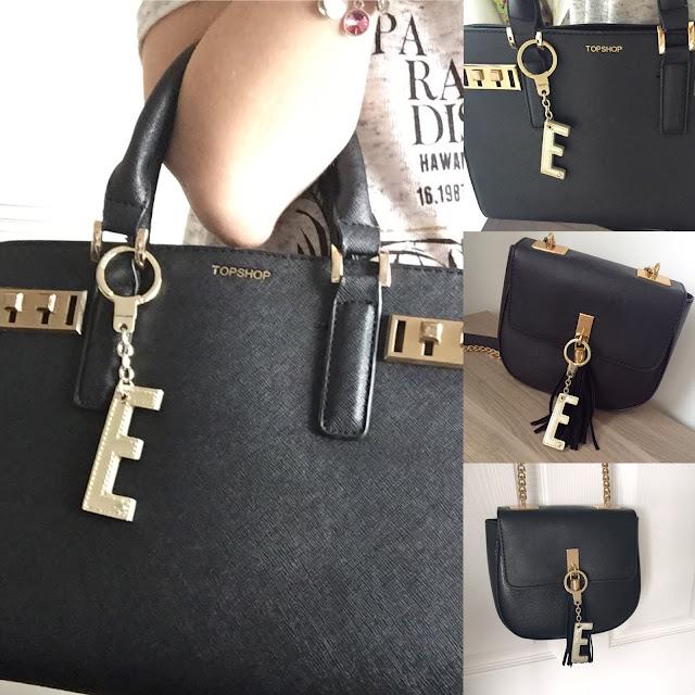 Kate Spade alphabet keychain bag charm
