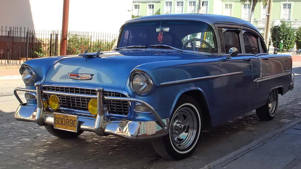 1955 chevrolet bel air 4 door sedan cubanclassics for 1955 chevy bel air 4 door
