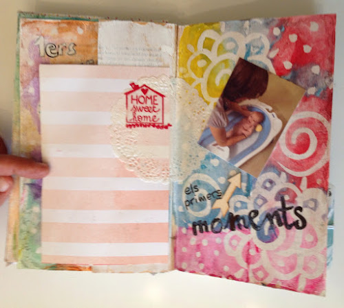 Libro alterado mixed media y scrap