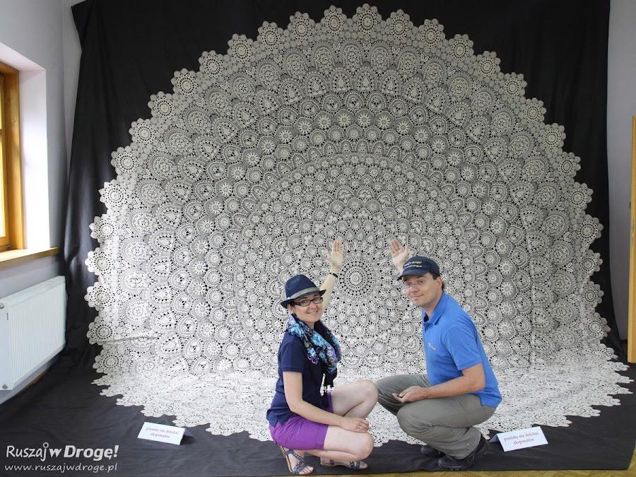 Największa na świecie koniakowska koronka w Istebnej