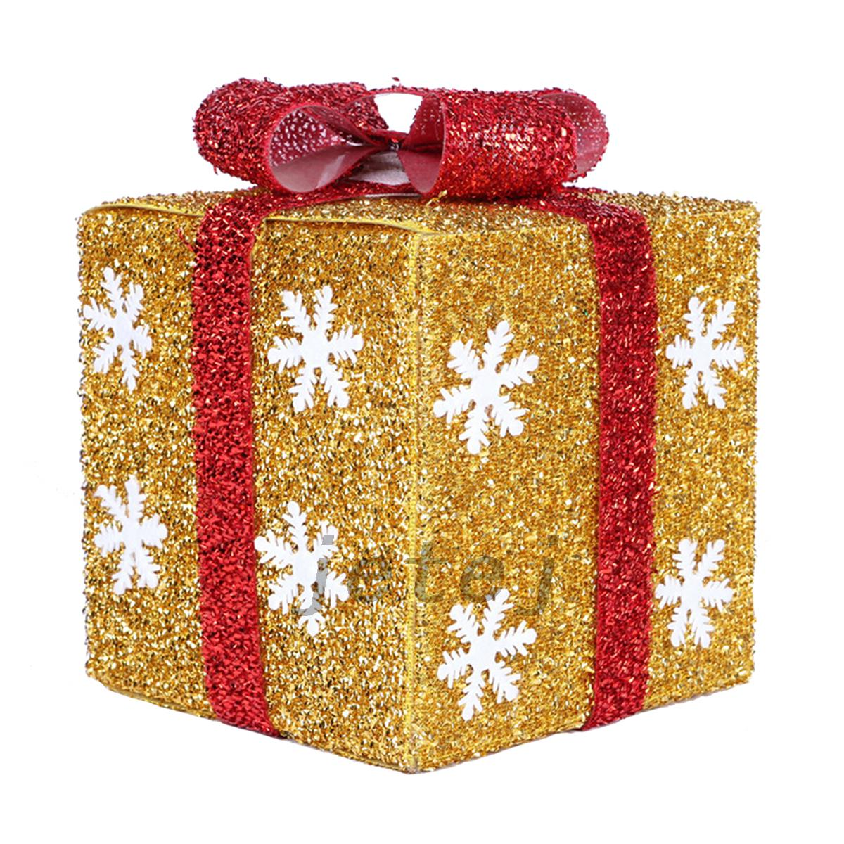 Gift Box Christmas Decorations: Party Decor Xmas Gift Boxes Christmas Present Packing