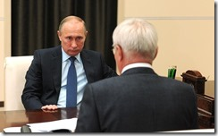 Putin and Rashnikov Meeting.