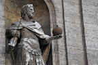 Statute outside church near Piazza Navona - Rome