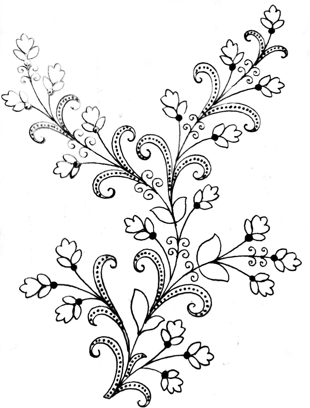 Simple saree design for drawing/saree design drawing easy/saree design drawing images free download.