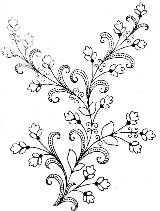 Simple saree design for drawing/saree design drawing easy/saree design drawing images free download