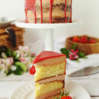 Strawberry, Elderflower & Almond Layer Cake