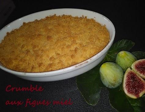 Crumble aux figues miel du jardin