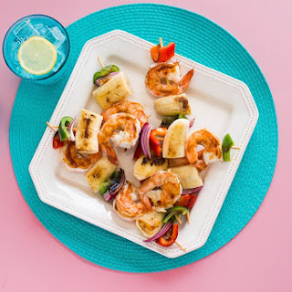 Caribbean Jerk Shrimp and Banana Kabobs