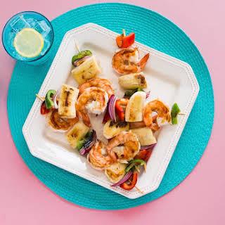 Caribbean Jerk Shrimp and Banana Kabobs.