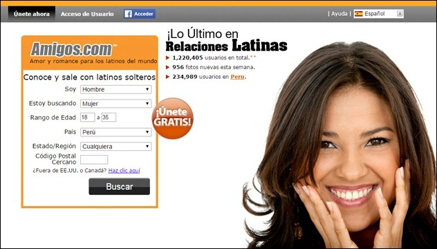 Abrir mi cuenta en Amigos.com