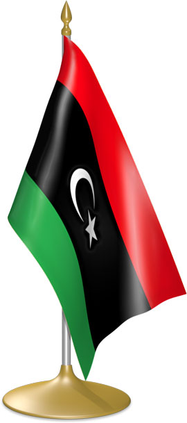 Libyan table flags - desk flags