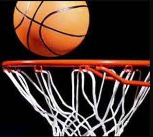 Pelota y aro baloncesto
