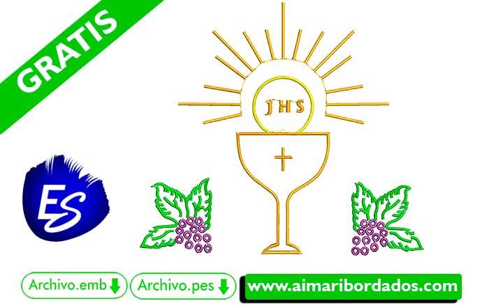 Bordado Religioso JHS  Descargar Gratis