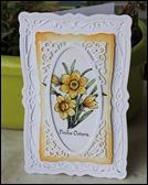 Frühlingskarte Grußkarte Ostern Frühling Spellbinders Osterglocke