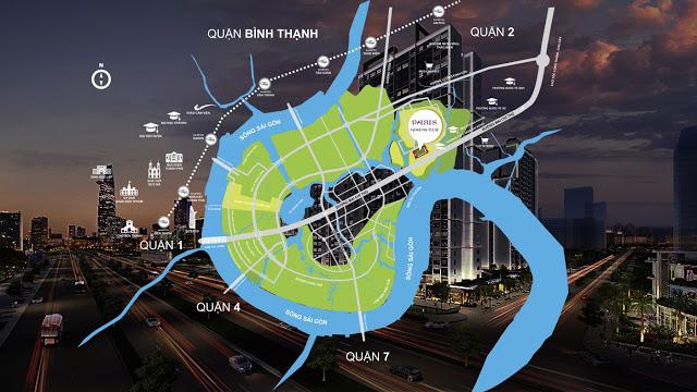 Vị trí của dự án Paris Hoàng Kim quận 2 – Thủ Đức