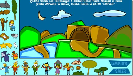 Armar pesebre online juego para niños