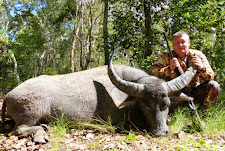 Mr Alex Chikunov with a good representative bull. Nothing special, but a nice stalk and well placed shot.. sometimes a successful hunt is enough.