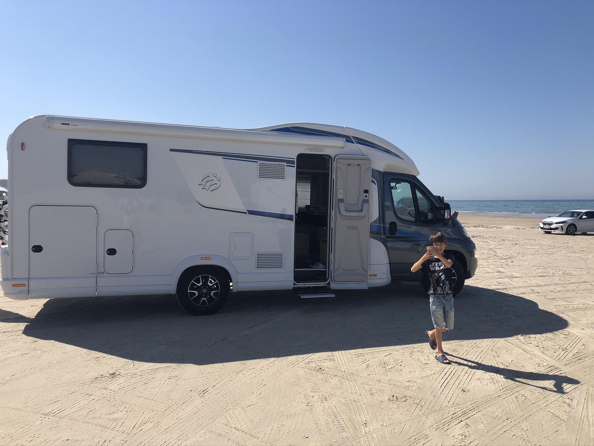 Dänemark-Rundreise im Sommer 2020: Grønhoj Auto-Strand