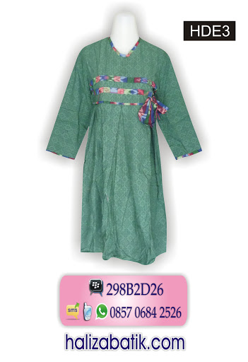 Jenis Jenis Batik, Busana Batik, Desain Baju Batik Wanita, HDE3