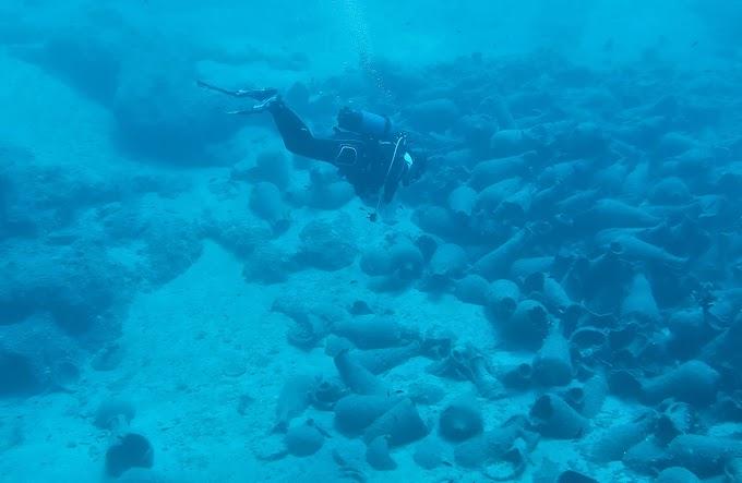 Υποβρύχια έρευνα στον κόλπο Παλαικάστρου Σητείας - Ευρήματα. (ΦΩΤΟ)