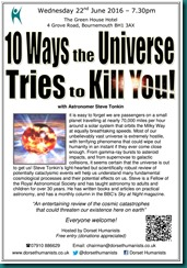 Ten Ways the Universe Tries to Kill You 22 June 2016