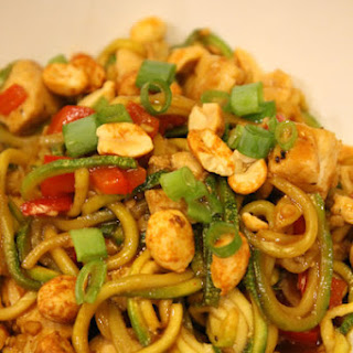 Kung Pao Chicken with Zoodles.
