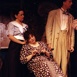 Joan Justice, Pat Kerton and Mark Stephens in LOOK HOMEWARD, ANGEL (R) - March 1994.  Property of The Schenectady Civic Players Theater Archive.