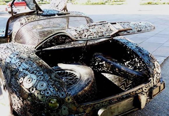 Mercedes 300 SLK Scrap Metal Art Car - Art Car Central
