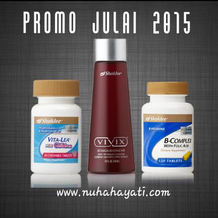 Promosi Shaklee Julai 2015