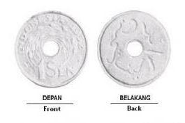 desain maya uang sen indonesia