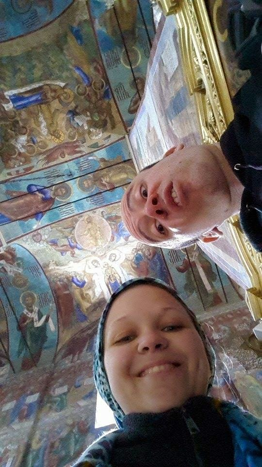 hello from the monastery... the roofs and wall paintings were incredible!