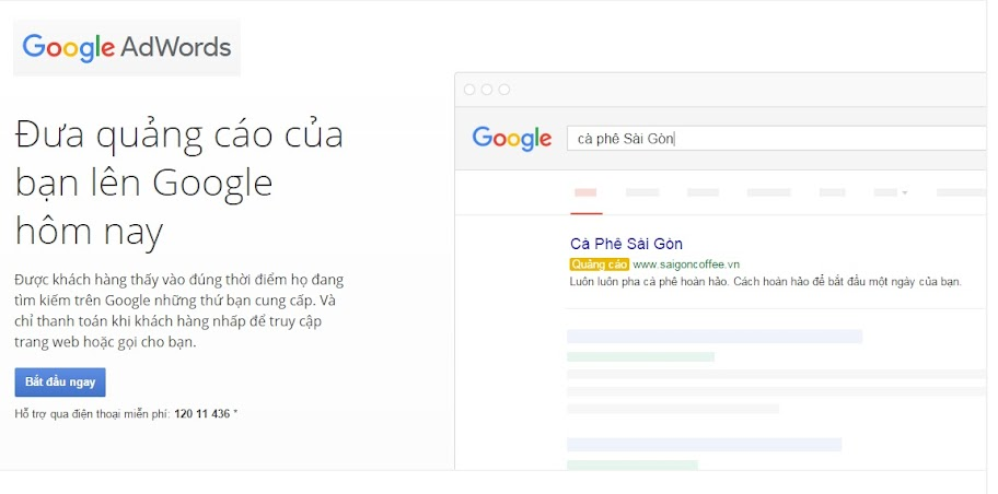 Google AdWords | Quảng cáo trực tuyến giá mỗi nhấp chuột
