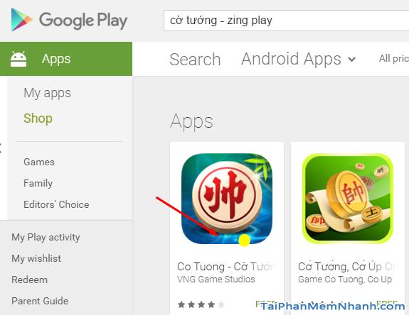tải game cờ tướng từ Google Play
