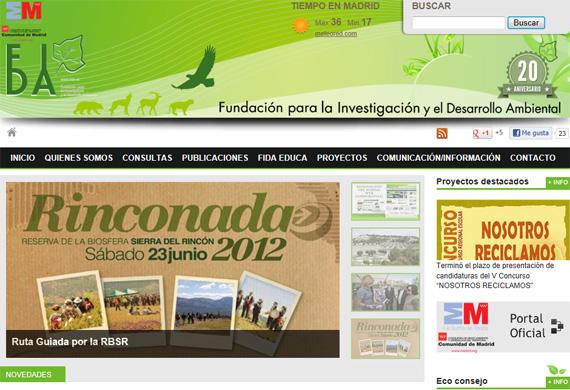 El portal www.fida.es invita a participar en el cuidado del medio ambiente