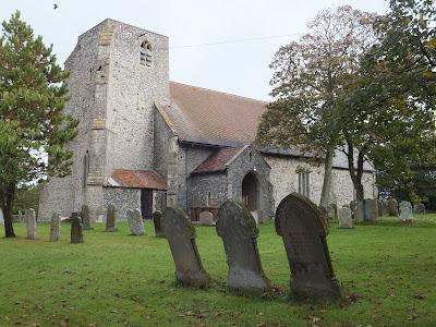 Trimingham church dedicated to John the Baptists Head