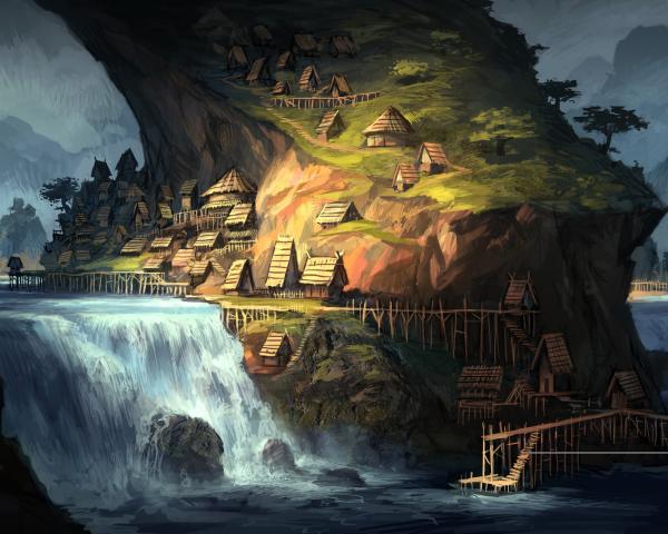 Village On The Rock, Magical Landscapes 2