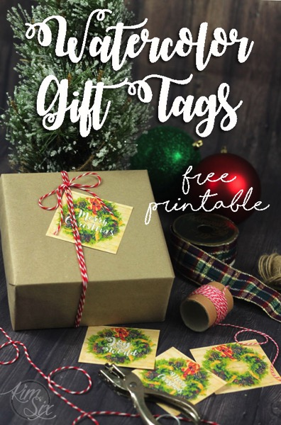 Christmas Watercolor Gift Tags free printable