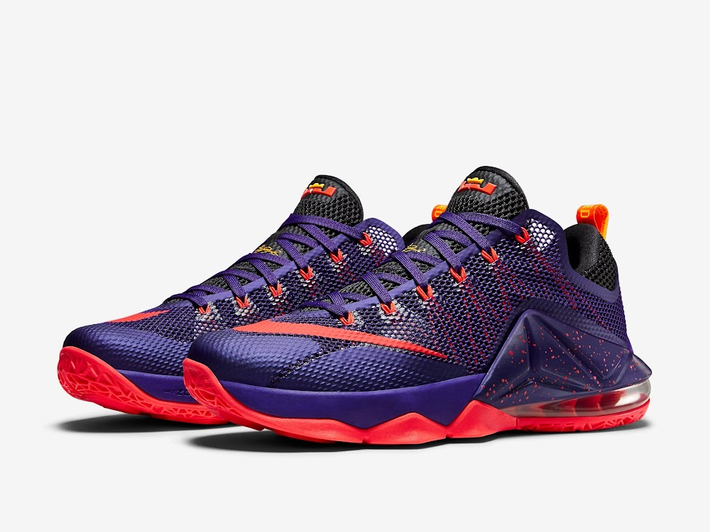 sale retailer babbb b5590 Nike LeBron 12 Low Court Purple Drops Next Month ...