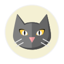 cat, black png icon